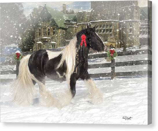 Traditional Canvas Print - The Christmas Pony by Fran J Scott