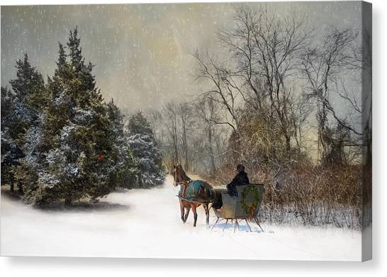 The Christmas Sleigh Canvas Print