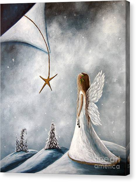 Angel Canvas Print - The Christmas Star Original Artwork by Erback Art