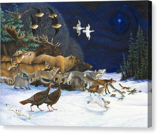 The Christmas Star Canvas Print