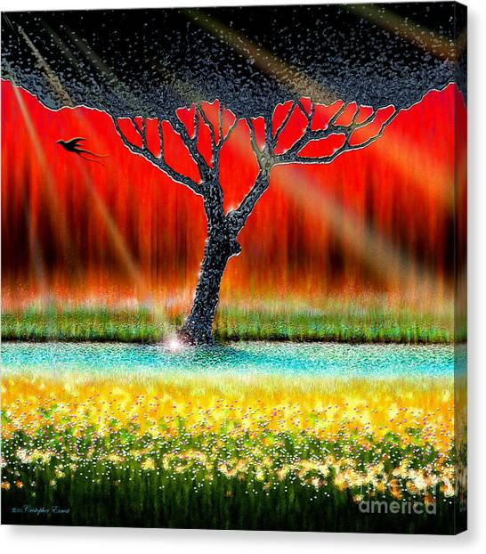 The Chrome Tree Canvas Print