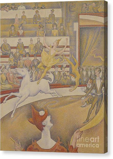 Post-impressionism Canvas Print - The Circus by Georges Pierre Seurat
