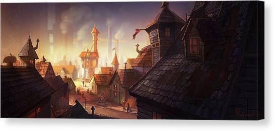 Industrial Canvas Print - The City by Kristina Vardazaryan