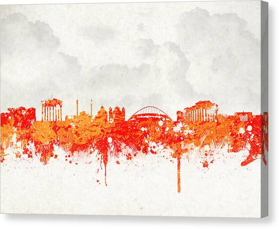 The Parthenon Canvas Print - The City Of Athens Greece by Aged Pixel