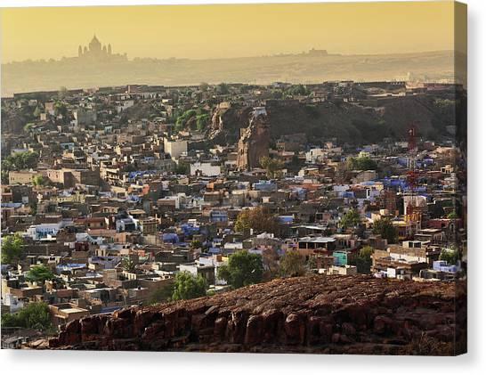 Thar Desert Canvas Print - The City Of Jodhpur, India (blue City by Adam Jones