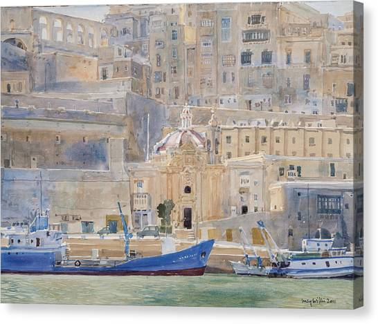 Maltese Canvas Print - The City Of Stone by Lucy Willis