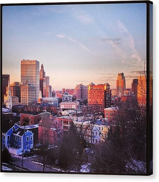 Rhode Island Canvas Print - The City Wakes by Jason Fourquet