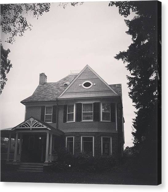 Jerseys Canvas Print - The Clare #house Where My Aunt Kitty by Red Jersey
