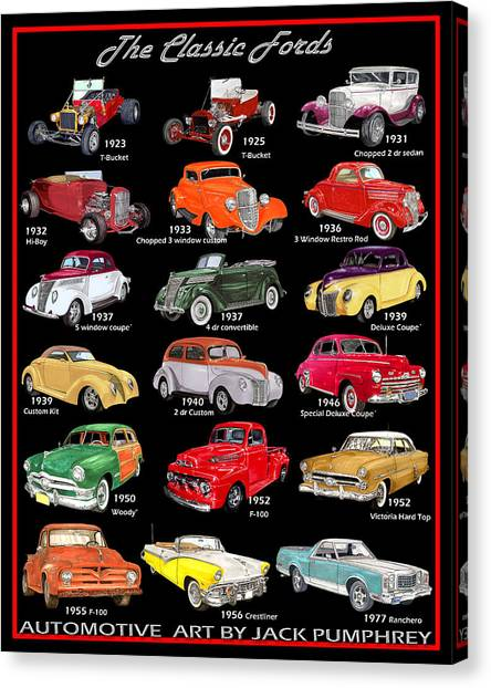 The Fords Shower Curtain Canvas Print