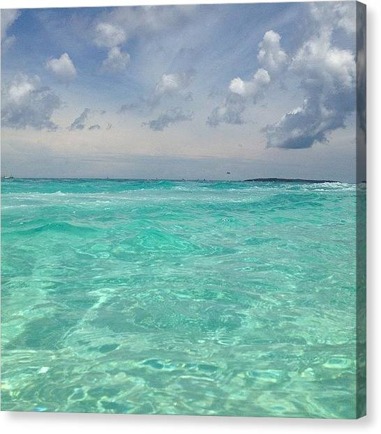 Bahamas Canvas Print - The Clearest Water I Ever Did Swim In by Samantha Gutglass