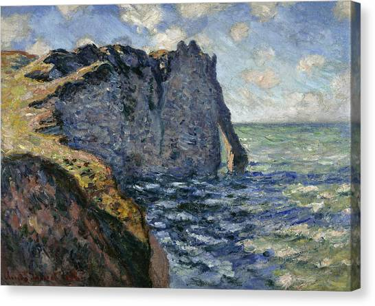 Etretat Canvas Print - The Cliff Of Aval, Etretat, 1885 by Claude Monet