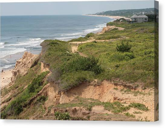 The Cliffs Of Montauk Looking West Canvas Print