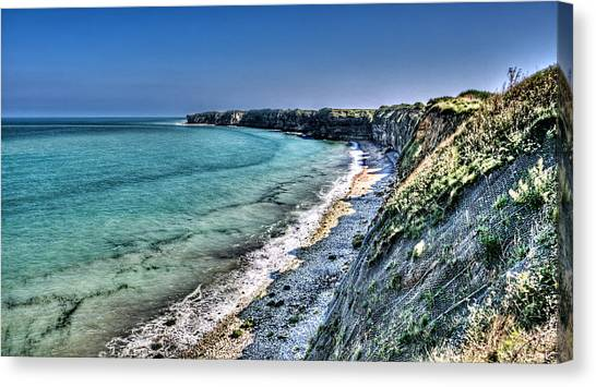 The Cliffs Of Pointe Du Hoc Canvas Print