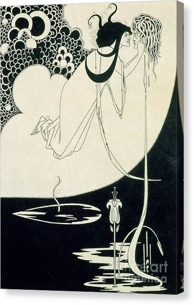 English And Literature Canvas Print - The Climax by Aubrey Beardsley