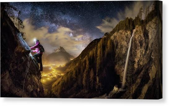 Mountain Climbing Canvas Print - The Climb by Dr. Nicholas Roemmelt