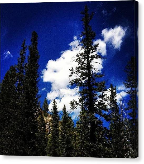 Tetons Canvas Print - The Cloud Looks Like A Ghost Or by Mindful Adventure