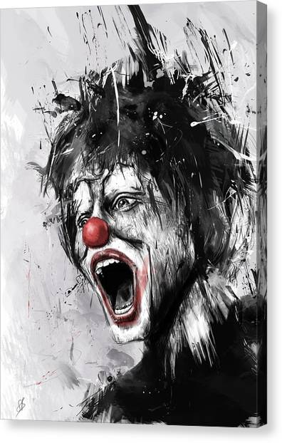 Surreal Canvas Print - The Clown by Balazs Solti