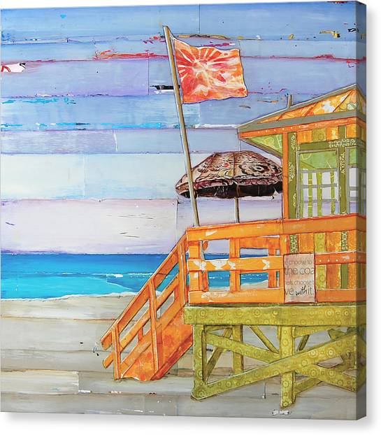Lifeguard Canvas Print - The Coast Is Clear by Danny Phillips