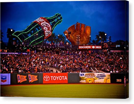 The Coke And Glove Canvas Print