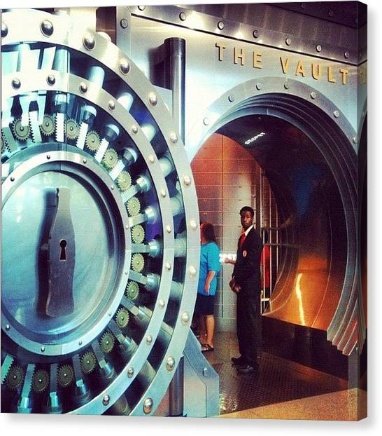 Vault Canvas Print - The Coke Vault #coke #cocacola #atlanta by Kallen Simpson