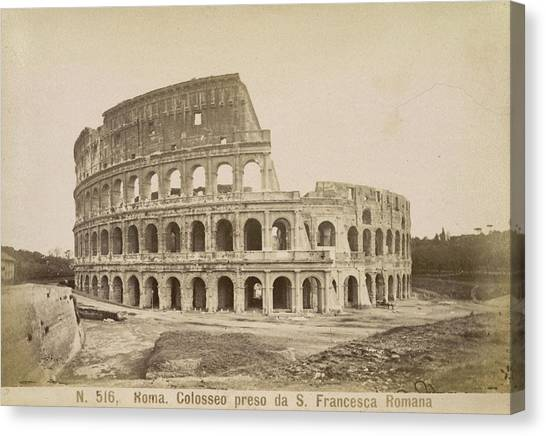 The Amphitheatre Canvas Print - The Coliseum by British Library