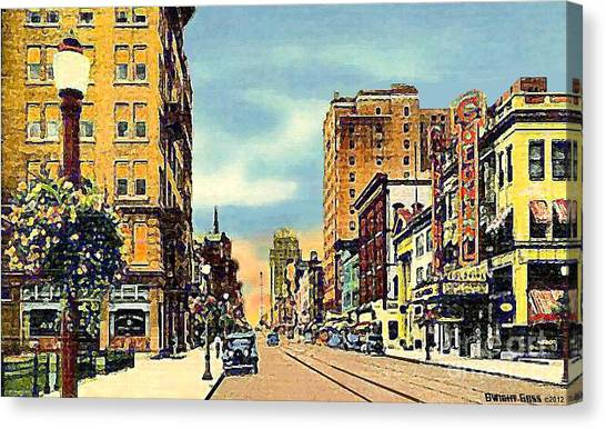 The Colonial Theatre On Hamilton St. In Allentown Pa Around 1935 Canvas Print