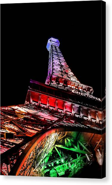 Eiffel Tower Canvas Print - The Color Of Love by Az Jackson