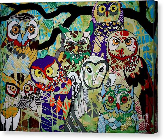 The Color Of Owls Canvas Print