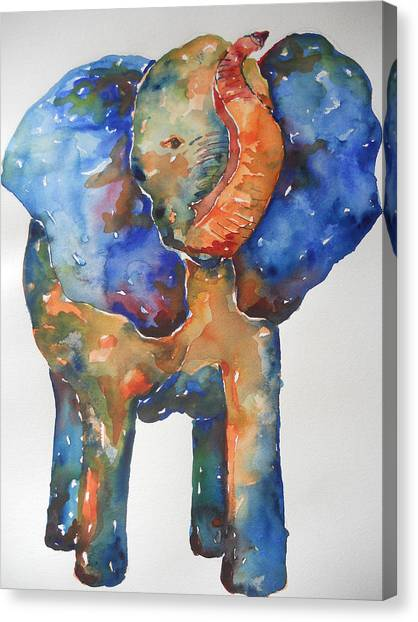 The Colorful Elephant Canvas Print by Brandi  Hickman