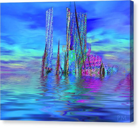 The Colors Have Went Out To Sea. Canvas Print