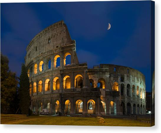 The Colosseum Canvas Print - The Colosseum In Rome by Ayhan Altun