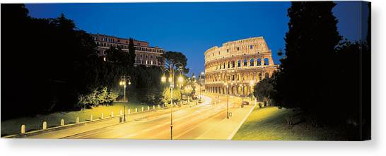 The Colosseum Canvas Print - The Colosseum Rome Italy by Panoramic Images