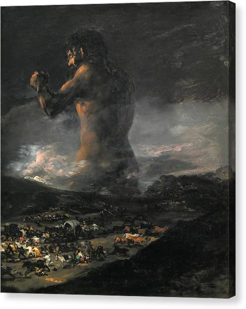 The Prado Canvas Print - The Colossus by Francisco Goya