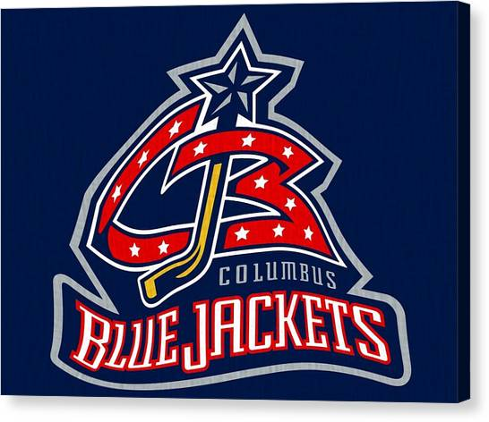 Metropolitan Division Canvas Print - The Columbus Blue Jackets  by Dan Sproul