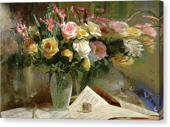 Romantic Flower Canvas Print - The Comet by Andrey Morozov