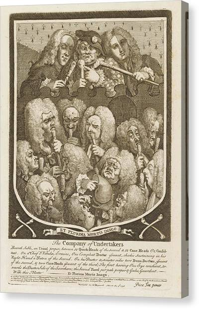 Undertaker Canvas Print - The Company Of Undertakers by Mary Evans Picture Library