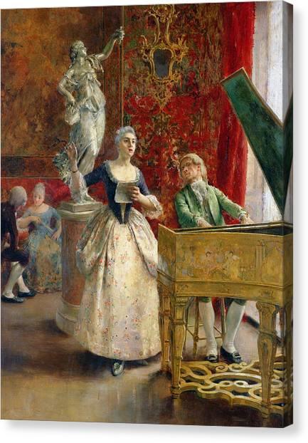 Harpsichords Canvas Print - The Concert by Luis Jimenez y Aranda