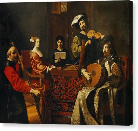 Cellos Canvas Print - The Concert Oil On Canvas by Nicolas Tournier