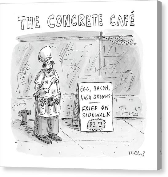 Eggs And Bacon Canvas Print - The Concrete Cafe 'egg by Roz Chast
