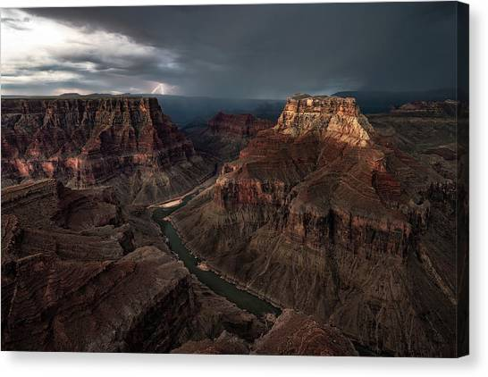 Grand Canyon Canvas Print - The Confluence by John W Dodson