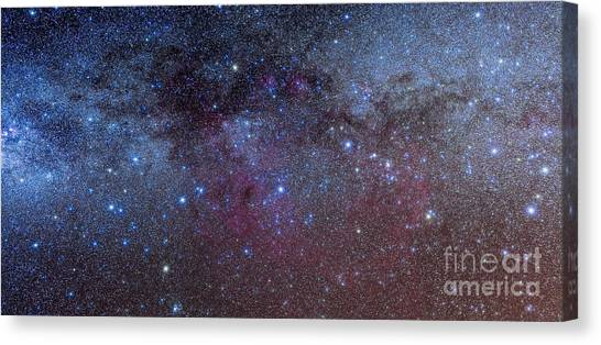 Pulsar Canvas Print - The Constellations Of Puppis And Vela by Alan Dyer