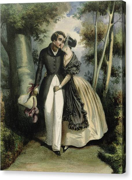 Groin Canvas Print - The Conversation by French School