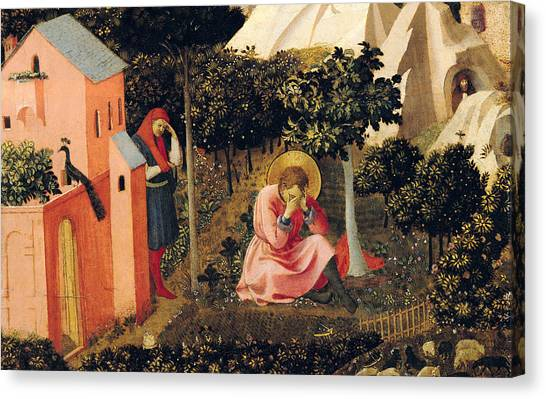 Bishops Canvas Print - The Conversion Of Saint Augustine by Fra Angelico