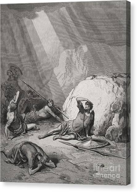 Holy Bible Canvas Print - The Conversion Of St. Paul by Gustave Dore