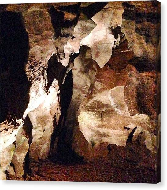 Spelunking Canvas Print - The Coolest #cave #adventure Ever by Heidi Lyons