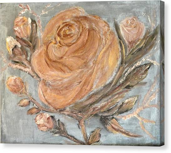 The Copper Rose Canvas Print by Corina Lupascu