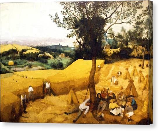 The Corn Harvest Digital Make Over Canvas Print