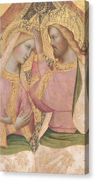 The Crown Canvas Print - The Coronation Of The Virgin by Agnolo Gaddi