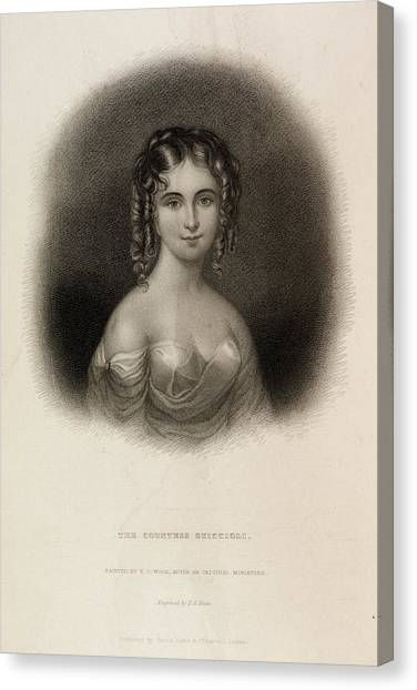 English And Literature Canvas Print - The Countess Teresa Guiccioli by British Library