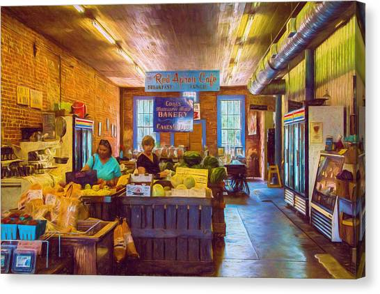 The Country Store - Impressionistic - Nostalgic Canvas Print by Barry Jones